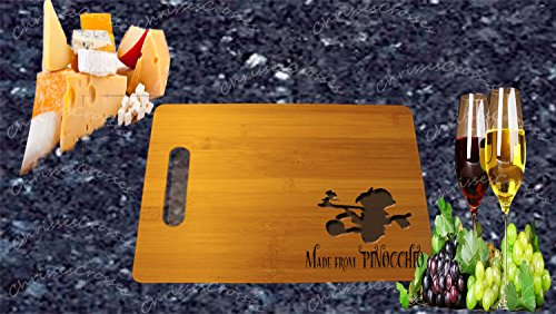 Made by Pinocchio Laser Engraved 9x12 Bamboo Cutting Board