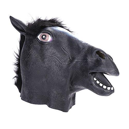 PferdeMaske Halloween Tiermaske Pferd...