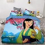 Mulan Disney Princess - Funda nórdica infantil de microfibra con...