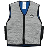 5. Ergodyne Chill-Its 6665 Evaporative Cooling Vest - Gray, Large