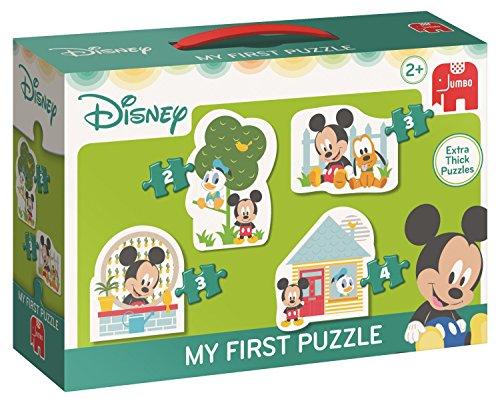 Jumbo Disney My First Puzzle - Mickey 2/3/3/4 pcs - Rompecabezas (Rompecabezas de Figuras, Dibujos, Niños, Niño/niña, 2 año(s), Interior)