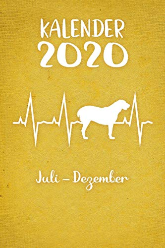 Kalender 2020: Gelber Tageskalender Alabai Herzschlag Hunde 2. Halbjahr Juli Dezember ca...
