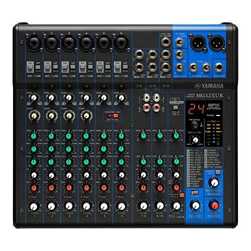 Yamaha MG12XUK Mezclador compacto (versión con potenciómetros) – Mezclador compacto de 12 canales, efectos SPX, funciones de audio USB y preamplificadores de micro D-PRE