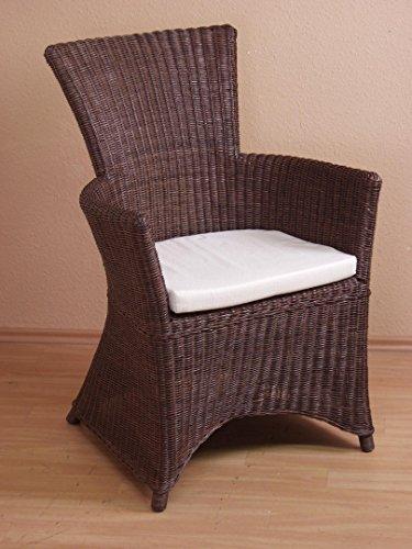 moebel direkt online Rattansessel _ Einzelsessel _ handgeflochten Sessel mit Kissenauflage