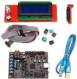 Pantalla LCD 2004 + Einsy Rambo 1.1A Mainboard para Prusa I3 Mk3 con 4 TMC2130 TMC2130 Control 4 Salidas conmutadas MOSFET Impresora 3D Módulos de controlador de piezas de controlador Placa de control