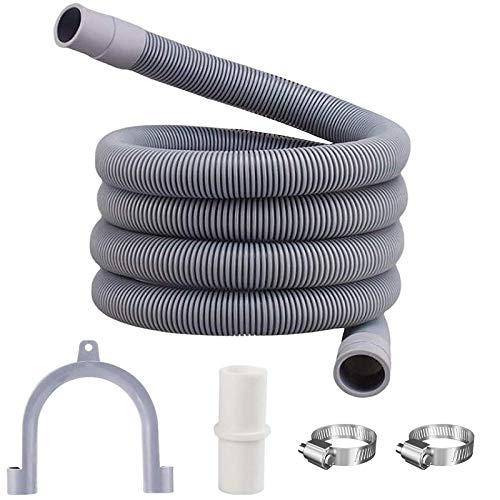 Tuofang Tubo di scarico, Tubo per lavatrice, Scarico Lavatrice e lavastoviglie Prolunga per tubo di scarico, Tubo di Scarico Flessibile Per Lavatrice Kit, per lavatrice e lavastoviglie (2m)