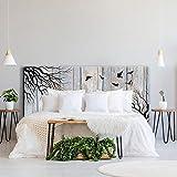ROTULA TU MISMO Impresión Digital en PVC | Diseño Bosque Efecto Madera | Cabecero Original y...