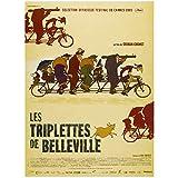 Les triplettes de Belleville (2003), póster de película, imágenes artísticas, decoración, sala de estar, dormitorio, lienzo, obra de arte -50x70cm Sin marco