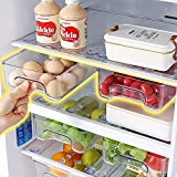 Baffect Paquete de 2 contenedores organizadores de refrigerador...