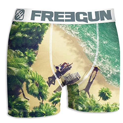 Freegun onderwear. Freegun Mannen Boxershorts Act63 vakantie Evasion van microvezel – verschillende modellen foto's afhankelijk van beschikbaarheid – Pack met 3 boxershorts verrassing S