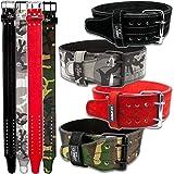 C.P. Sports Powerlifting - Cinturón de entrenamiento, cinturón para levantamiento de pesas, cinturón de fitness (camuflaje, talla M = 78-104 cm)