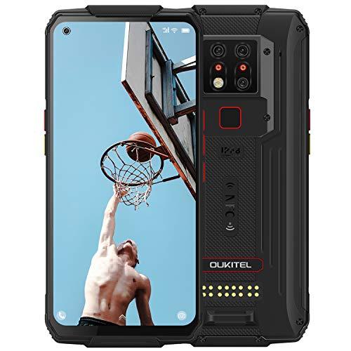 OUKITEL WP7 (2020) Outdoor Smartphone, 8GB 128GB Helio P90 Dual 4G IP68 wasserdichtes Handy, 6,53 Zoll(16,6 cm) Gorilla-Glas, 8000 mAh Akku, 48 MP dreifache Kamera, NFC (Schwarz)