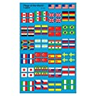 TREND ENTERPRISES, INC. Flags of The World superShapes Stickers, 800 ct
