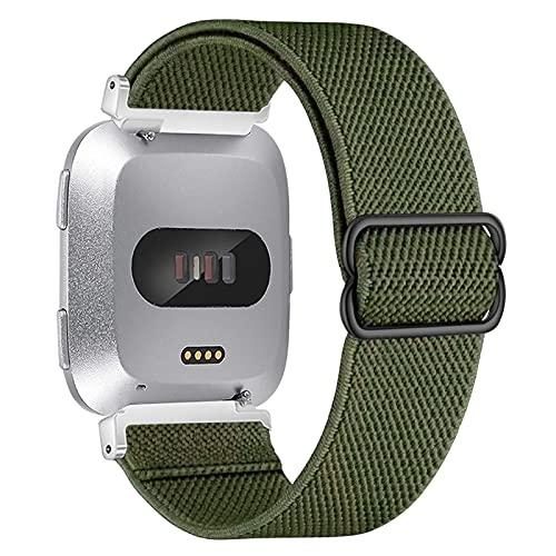 Vozehui Correa compatible con Versa Lite/Fitbit Versa 2/Versa, elástico ajustable, correa de repuesto de nailon suave para Fitbit Versa 2 correa/Versa Lite/Fitbit Versa, mujeres y hombres,