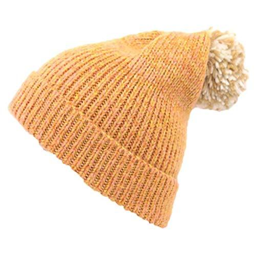 HL Bonnet en Tricot, Tbagem-Yjr Jaune Automne Et Hiver Chapeau
