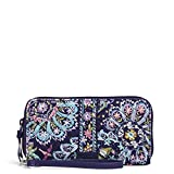 Vera Bradley Signature Cotton Accordion Wristlet with RFID Protection, French Paisley