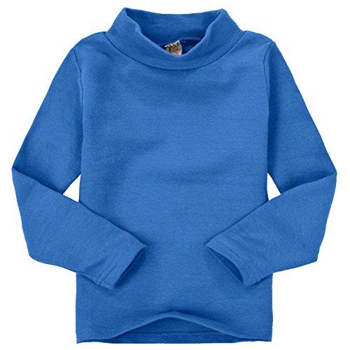 CuteOn Niños para niños | Cuello Alto | De Manga Larga | algodón | De Camisetas, Tops, tee Shirt Royal Blue 3 Años