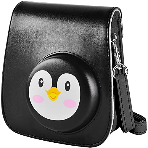 Schutzhülle & tragbare Tasche Kompatibel mit Fujifilm Instax Mini 11 / 9 / 8 Sofortbildkamera mit Zubehörtasche & verstellbarem Gurt. (Black)