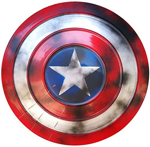 Escudo Capitan America Metal 1: 1 Adulto Apoyos De PelíCula NiñOs Hierro Forjado CapitáN AméRica Metal Shield DecoracióN De Pared De Bar Retro