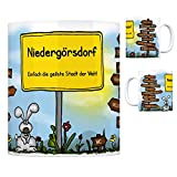 Niedergörsdorf - Einfach die geilste Stadt der Welt Kaffeebecher Tasse Kaffeetasse Becher mug Teetasse Büro Stadt-Tasse Städte-Kaffeetasse Lokalpatriotismus Spruch kw Paris London Gadegast Na&orf