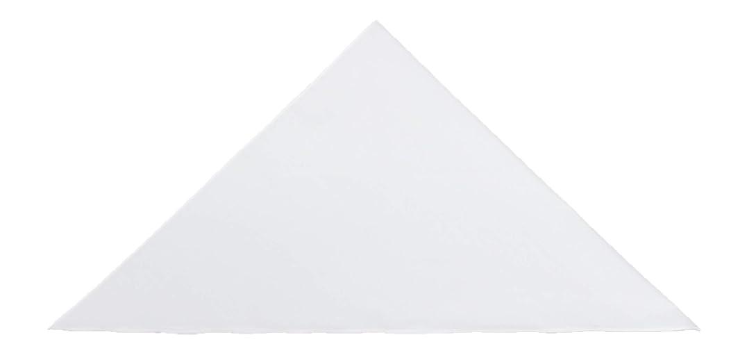リファインオーケストラ船日本製 プロ仕様三角巾 Mサイズ 約横幅95cm×中心丈47cm (ホワイト)