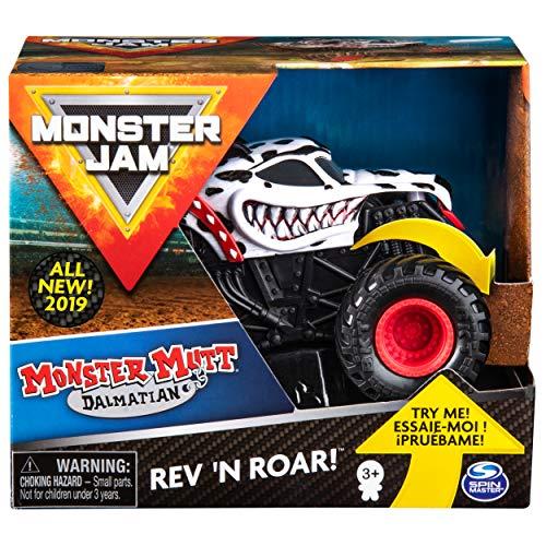 SpinMaster Vehículo Monster Jam de Fricción Monster Mutt Dalmatian, Escala 1:43