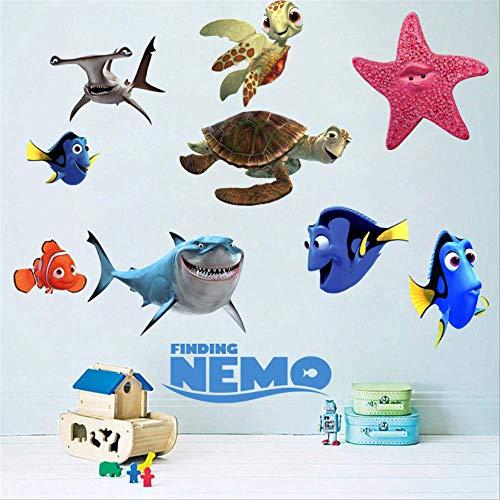 Findet Nemo 3D selbstklebende Tapete Nemo Findet Clownfisch Aquarium Wanddekoration Cartoon Aufkleber 60 x 90