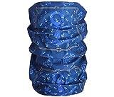 Halstuch Schlauchschal Damen Multifunktionstuch Herren Maritim Anker Design Atmungsaktiv Sport Rundschal Motorrad Tuch Loop (Anker blau)