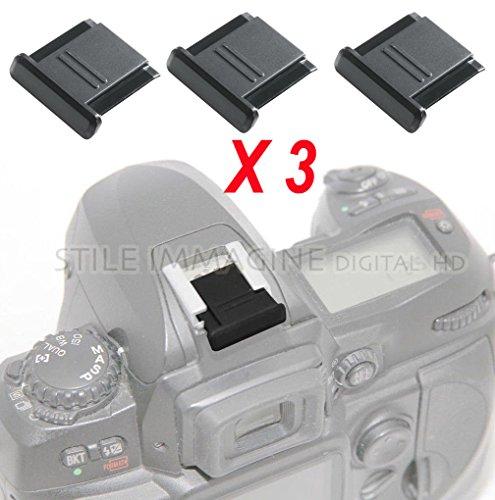 Digital HD - 3 tapas protectoras para contactos y ranuras de flash de zapatas Nikon, Canon, Pentax, p. ej. Nikon BS-1