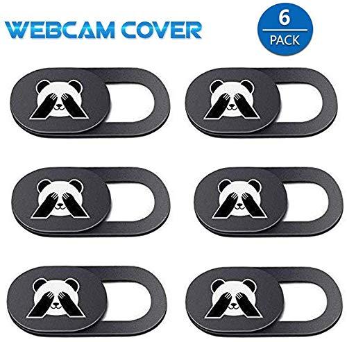 AviBrex Webcam Abdeckung,Laptop Webcam Cover Slider (6 Pack), Camera Cover Ultra Thin Webcam Privacy Cover Fits MacBook,iPad,Laptop,PC,Echo Spot,Smartphones,Tablets,iMac MacBook,Computer,etc(Panda)