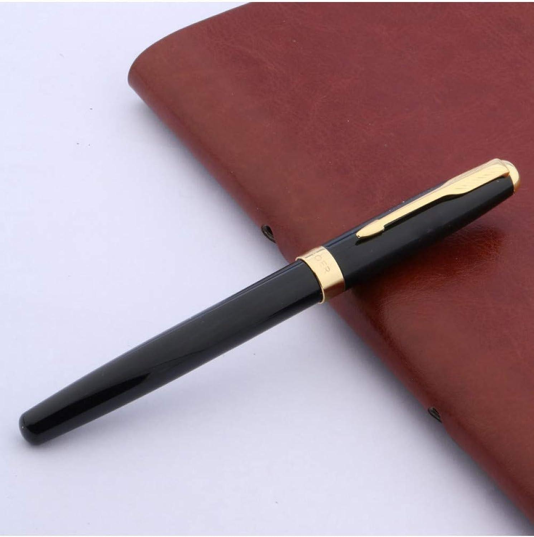 DPHH Bolígrafo Oficina Negra Escribiendo Flechas Doradas Trim Ball Pen 10Pcs