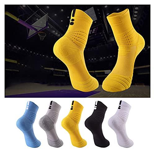 Cykelstrumpor, bekväma stötdämpande cykelstrumpor, handdukbotten/halksockor, lämpliga för olika sporter (storlek 39 till 43),Color mixing,39~43