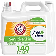 Arm & Hammer Sensitive Skin Free & Clear, 140 Loads Liquid Laundry Detergent, 210 Fl oz