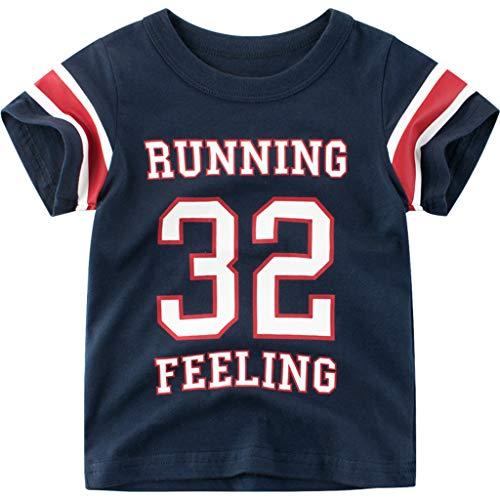 Cuteelf Kinder kurzärmeliges Neugeborenes Baby Jungen Brief drucken T-Shirt Shirt Basic Shirt Kleidung Sommer Ball Anzug Stil 25. Jordan hübsch hübsch Basketball Baby