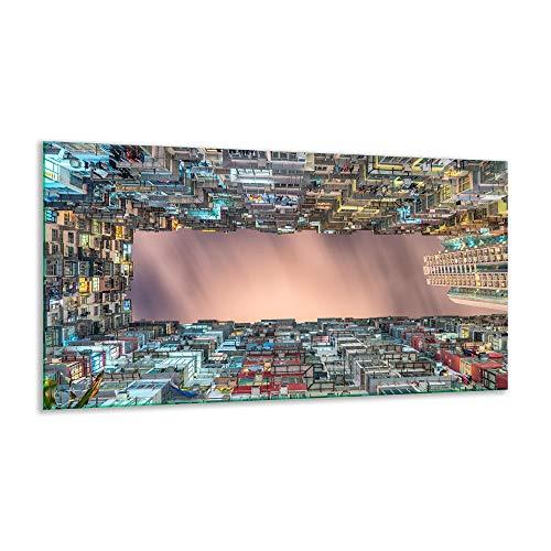 Plaque de Cuisson Ceranfeld Stadt Beige 1 pièce 90 x 52 plaques de Cuisson en Verre Induction