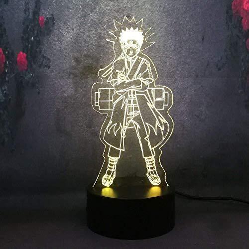 3D illusie LED nachtlampje voor Kid Naruto Uzumaki Naruto Action Figure USB basis batterij aangedreven bureau tafellamp huis decoratief cadeau