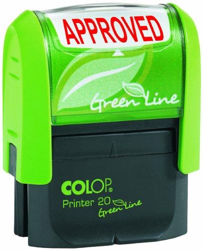 Colop Green Line tekststempel APPROVED stempel formaat 38 x 14 mm rood