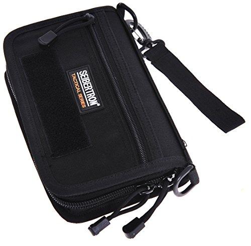 Seibertron Tactique Molle Compact BDU Grand Wallet Carry Case Holder de téléphone Portefeuille Pochette (Noir)