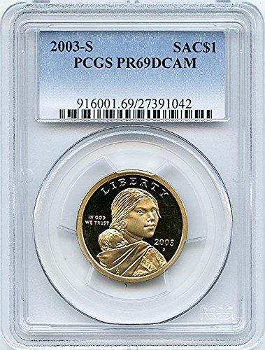 2003 S Proof Sacagawea Dollar PCGS PR 69 DCAM New Blue Label Holder