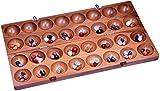 Hus - Bao - Kalaha - Bohnenspiel - Muschelspiel - Edelsteinspiel aus Samena-Holz - 2. Wahl
