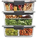 12-Piece Rubbermaid Brilliance Food Storage Plastic Containers