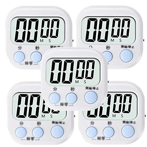 LCD magnétique numérique Minuteur, Big Digits, alarme sonore, Support magnétique, Support minuterie, Gym, Réunion, la cuisson des aliments, une grande alarme (Couleur: Vert, Taille: Deux Packs) 8bayfa