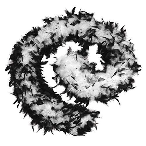 Bristol Novelty - Boa de plumas de precio económico para disfraz (Tamaño Único) (Negro/Blanco)