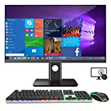 NEXSMART Touch Screen All-in-One Desktop Computer, Intel i7 and pre-Installed Windows 10 All-in-One Computer, 8GB DDR3 480 SSD Support WiFi and 23.8-inch 1920x1080 FHD Height Free Adjustment