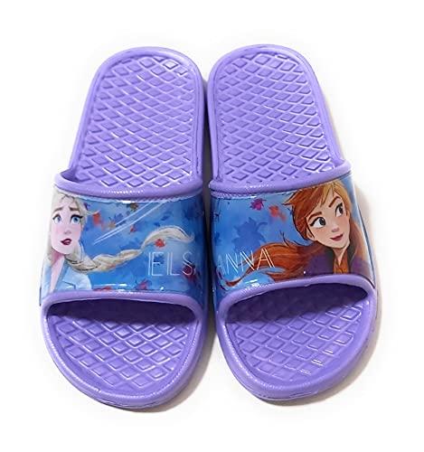 Chanclas Frozen Elsa y Anna para Playa o Piscina - Flip-Flop Disney Frozen Anna y Elsa para niñas (Numeric_31)