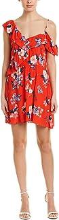 cupcakes and cashmere womens Cordetta Assymetrical Ruffle Print Dress Dress