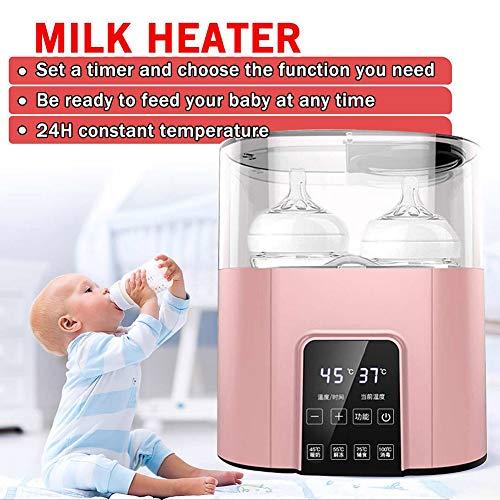 6 in 1 Universele zuigfleswarmer Verwarmer Flessensterilisator Babyvoeding Warm 220V Elektrische melkvoedingswarmer met timer,Pink