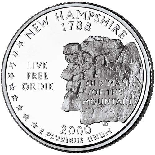 2000 D BU New Hampshire State Quarter Choice Uncirculated US Mint