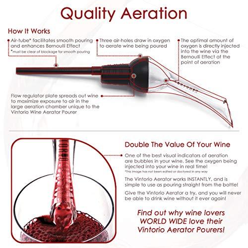 Vintorio Wine Aerator Pourer - Premium Aerating Pourer and Decanter...
