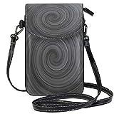 XCNGG Strudel Spiral - Cartera para teléfono celular abstracta para mujer, niña, pequeña, bandolera, bolsos